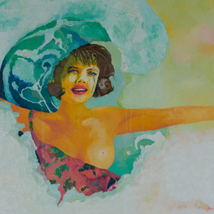 Do You Surfer Girl(painting detail)