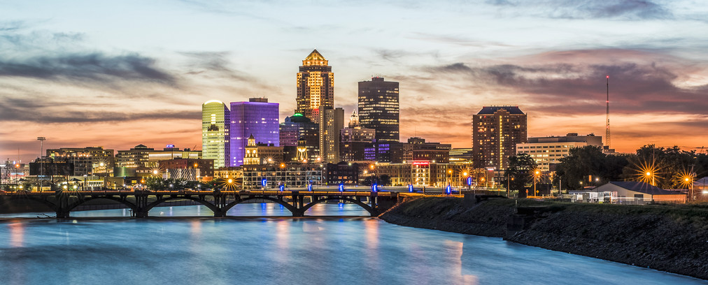 Des Moines Skyline with Financial Center