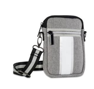 OUT OF STOCK! Neoprene crossbody cellphone case with adjustable strap.