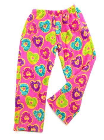 Fuzzy pajama pants. One size left:7-8.
