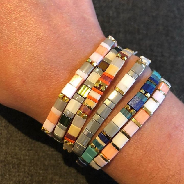Stretchy tile bracelets