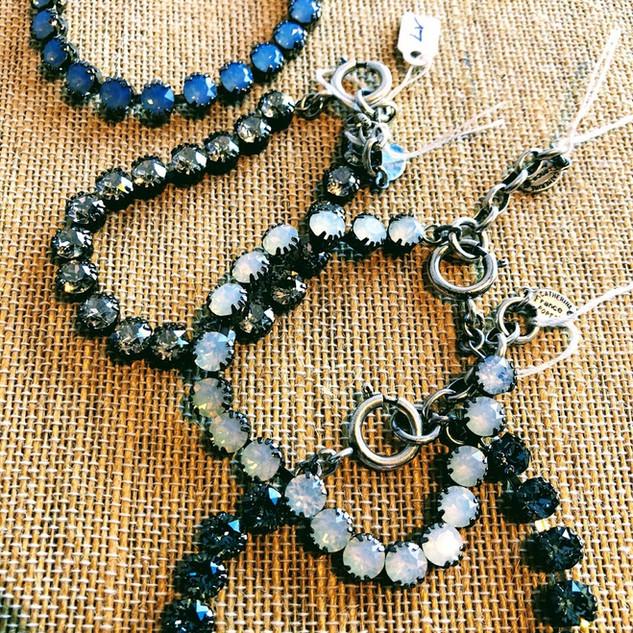 Sterling Silver over copper bracelets with Swarovski crystals