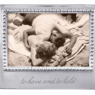 """""""To have and to hold"""" beaded aluminum frame"""