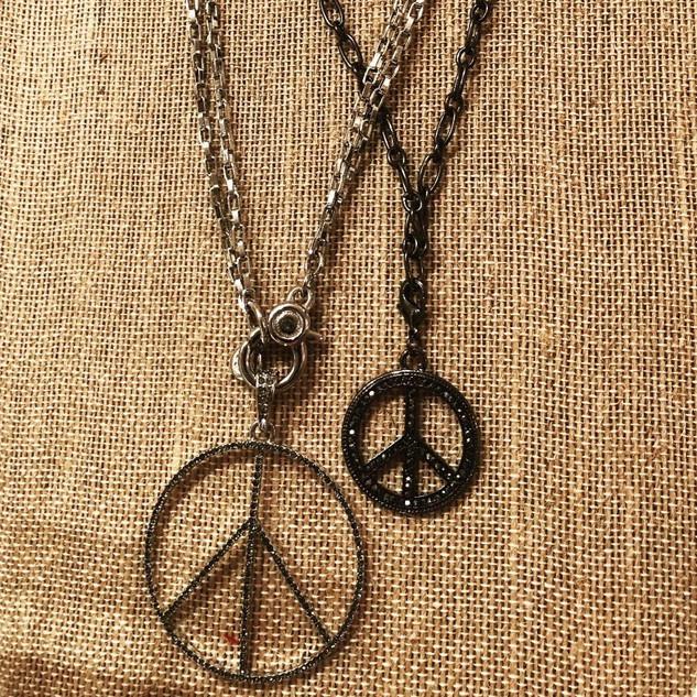 Peace necklaces