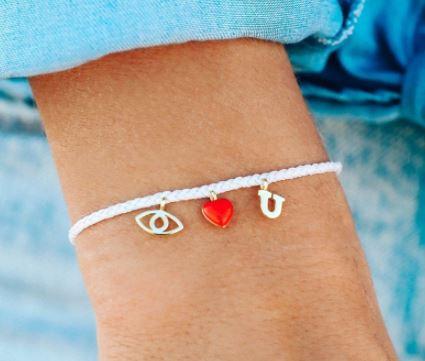 Pura Vida eye love you bracelet