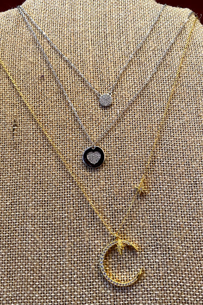 Top: Sterling silver CZ circle - $32