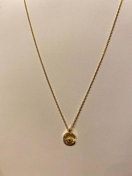 Moon & starburst necklace