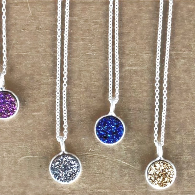 Sterling silver druzy necklaces - ONLY GOLD AVAILABLE