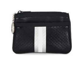 OUT OF STOCK. Card case with 2 zipper closures and key ring