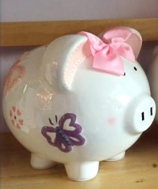 Butterfly piggy bank