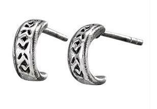 Sterling silver tiny hoop earrings