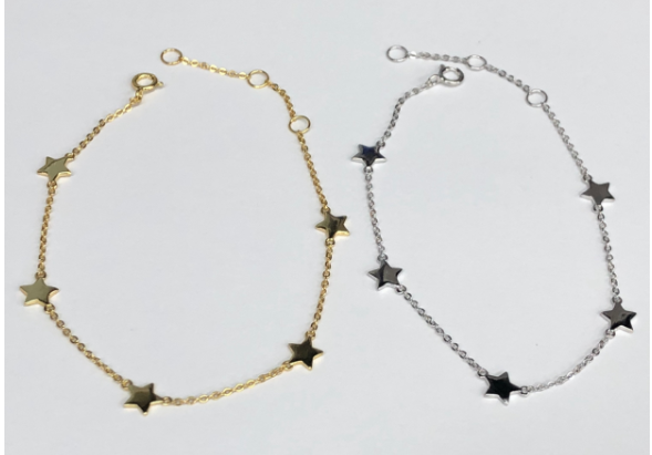 Gold Vermeil & Sterling Silver star bracelets
