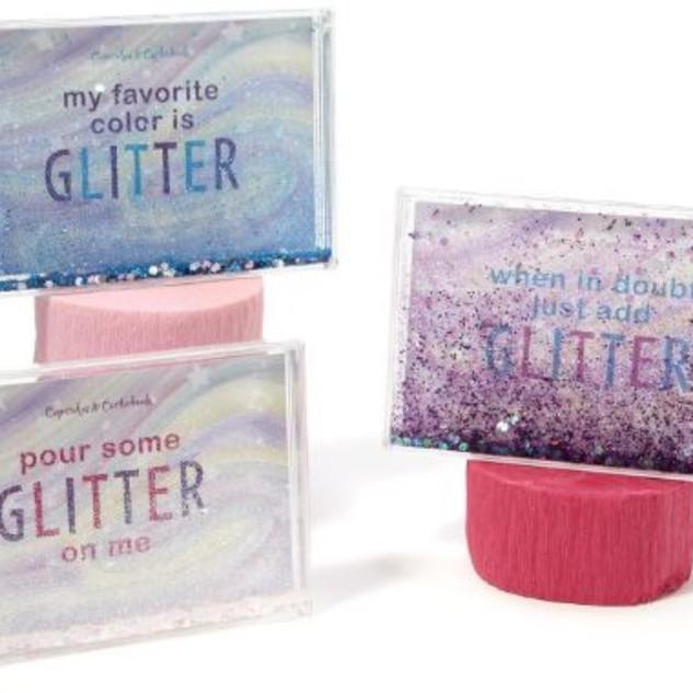 Plastic glitter frame