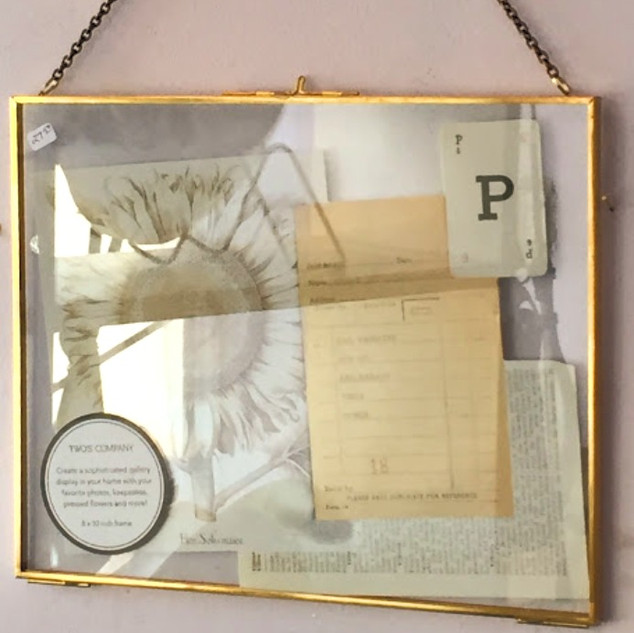 Clear photo frame with wall hanging chain