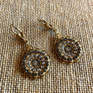 14K gold over copper base with Swarovski crystal earrings