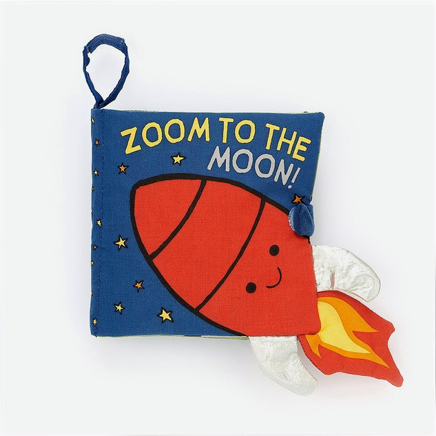 Zoom to the Moon baby book
