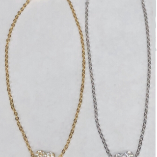 Gold Vermeil & Sterling silver heart bracelets with CZ crystals