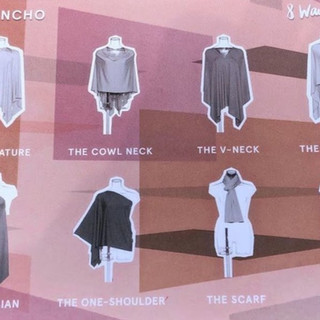Multiple ways to wear the poncho to match your everyday style!