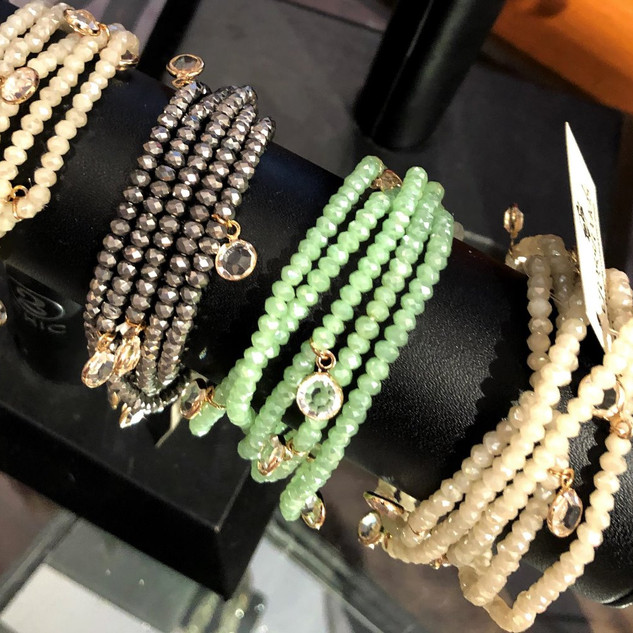 Multi strand wrap bracelets - ONLY GREEN AVAILABLE