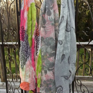 Additional gauzy scarf patterns
