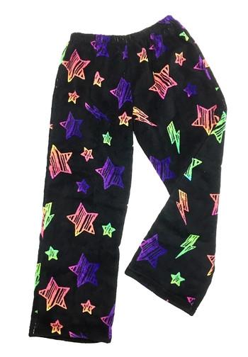 Fuzzy pajama pants. Sizes: 10-12, 14-16.