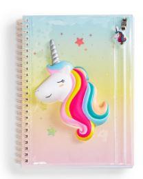 Unicorn notebook with plastic pencil case
