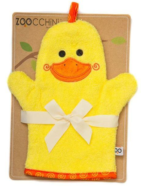 Duck bath mitt