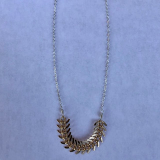 24k vermeil feather on Sterling Silver chain
