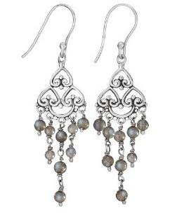 Labradorite chandelier earrings
