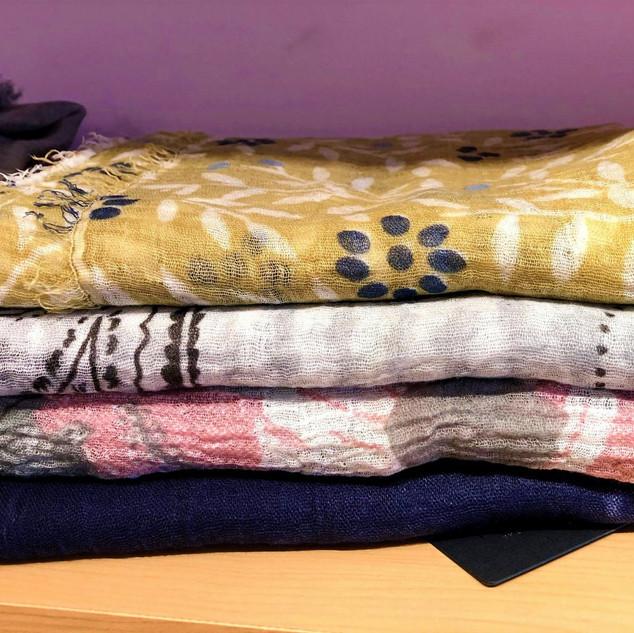Gauzy scarves