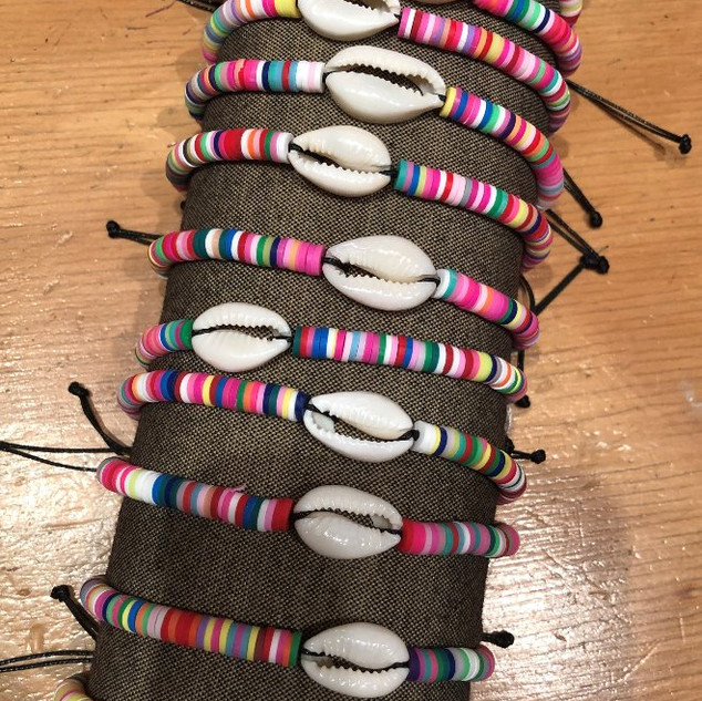 Pooka shell adjustable bracelets