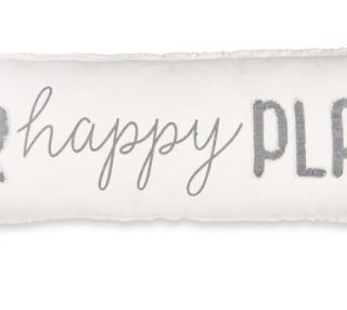 """""""Our happy place"""" pillow"""