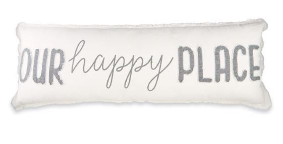 """Our happy place"" pillow"