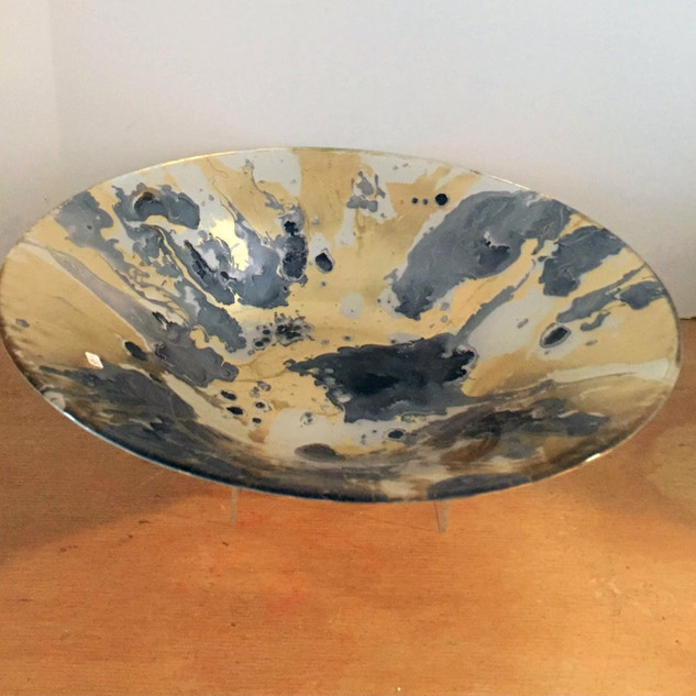 Beatriz Ball navy and gold large round bowl
