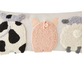 Farm animal pillow