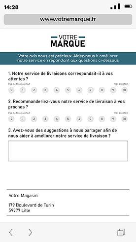 Page Enquête Mobile
