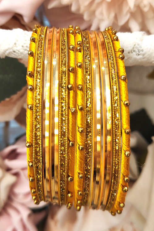 Yellow Base Bangle Set
