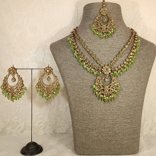 Antic Midi Set with green beading