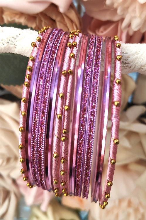 Pink Base Bangle Set