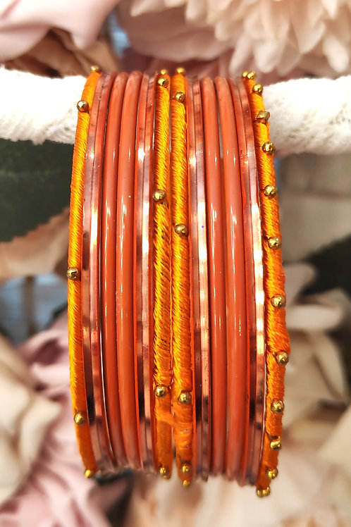 Orange Base Bangle Set