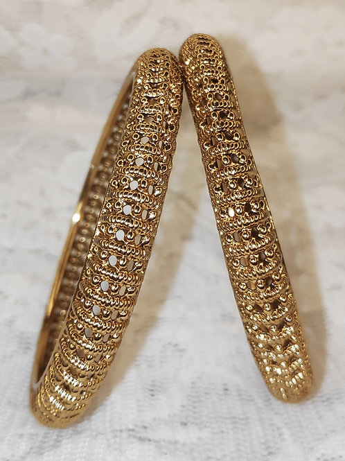 Antic gold plated bangles - design 1