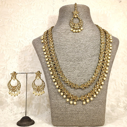 Antic 2 Line Midi Set with pearl beads