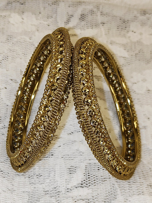 Antic gold plated bangles - design 4