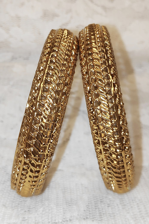 Antic gold plated bangles - design 3