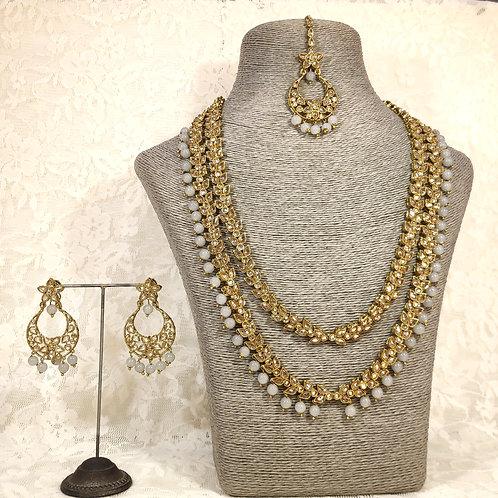 Antic 2 Line Midi Set with grey beads