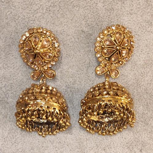 Jhumki earrings - Peony Collection