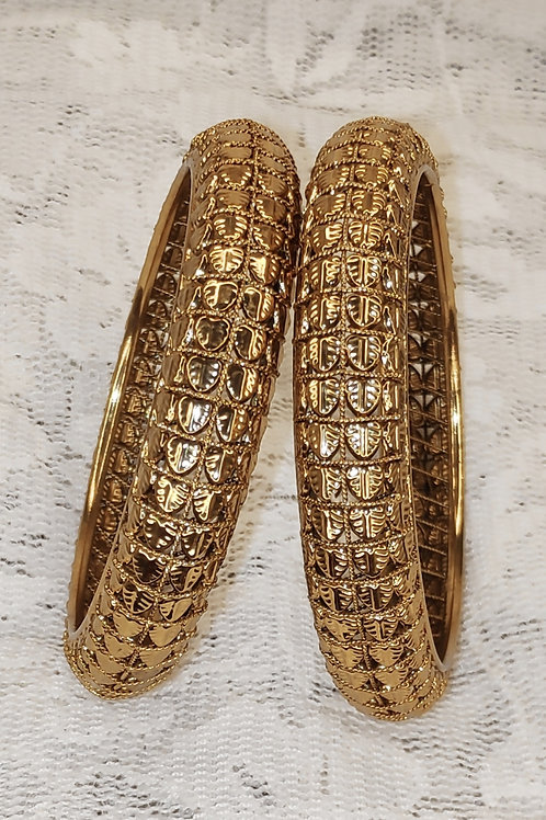 Antic gold plated bangles - design 2