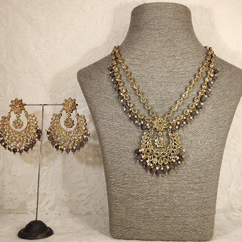 Antic Midi Set with grey beading