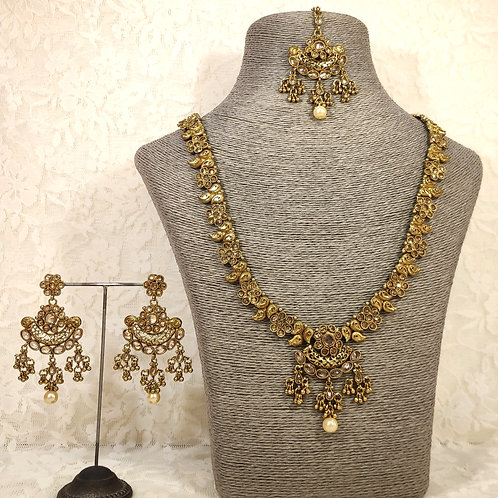 Antic Delicate Rani Set 2 full gold stones