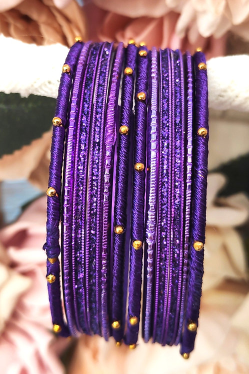 Purple Base Bangle Set